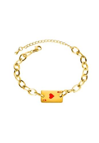 ADORA red Stainless Steel Card Bracelet 08328AC9D6EF7BGS_1