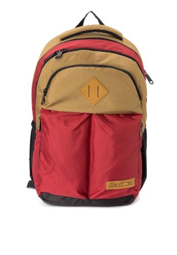 Hawk red Reinvented Lock-Stitch Backpack HA267AC0IQPUPH_1