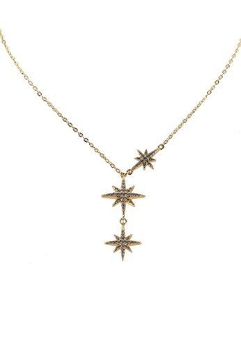 Megane gold Starry Night Necklace 74893ACBF7F683GS_1