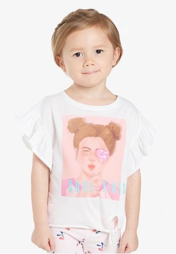 "Gen Woo white ""Cool Vibes"" Slogan T-Shirt By Gen Woo E61D8KA57B117FGS_1"