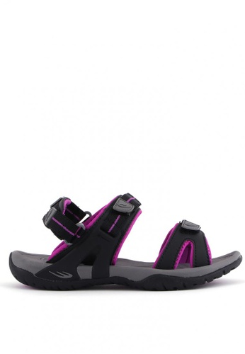 World Balance black Sophia L Sports Sandals B9F25SH7750132GS_1