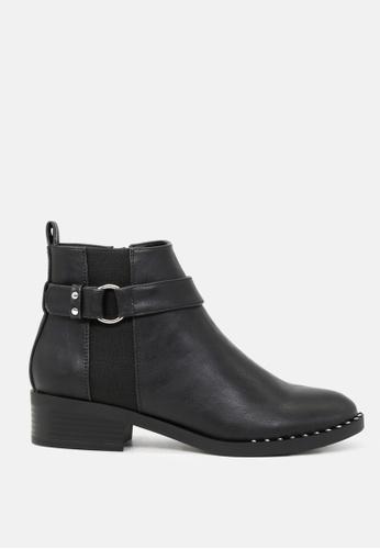 London Rag 黑色 脚踝短靴配金属扣rim 72DC7SH2ADF3C8GS_1