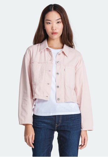 Levi's pink Levi's Cropped Cool Trucker Jacket Women 85698-0001 A58E7AA47A4F5AGS_1