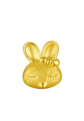 LITZ gold [Free Bracelet] LITZ 999 (24K) Gold Rabbit Charm 兔子 EPC0056 (1.01g) D6357AC868400DGS_1