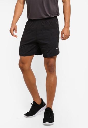 Puma black Pace 7'' Graphic Shorts PU549AA0SWG4MY_1