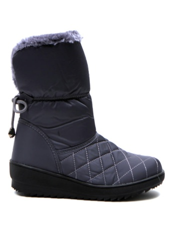 Crystal Korea Fashion grey Korean Winter New Versatile Warm Boots 8553ASH722F4B2GS_1