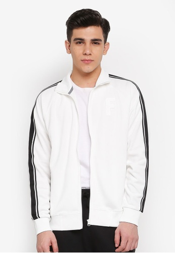 FILA white Heritage Knit Zip Jacket BC032AAC4A9675GS_1