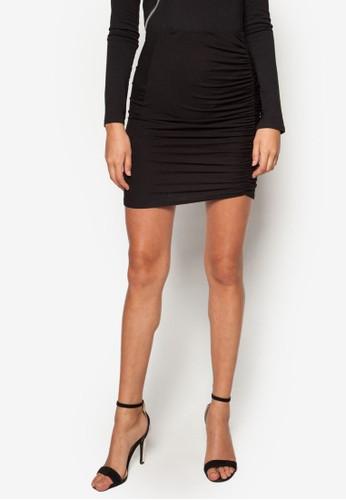 esprit tote bag抓褶迷你短裙, 服飾, 裙子