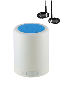 Wireless Bluetooth Speaker Smart Touch LED Mood Lamp with High Quality R21 Earphone