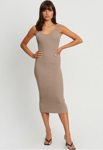 BWLDR grey Jodie Knit Dress 2C6ADAAA2AE843GS_1