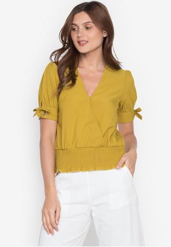 Plains & Prints yellow Natural Tannah Short Sleeves Top E9D47AAFA54232GS_1