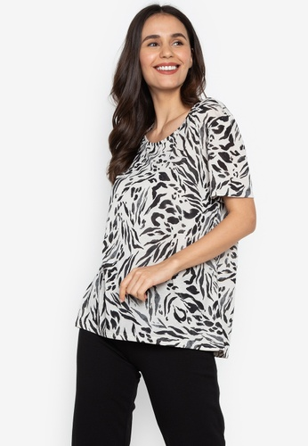 01c5d79f MARKS & SPENCER black Animal Print Short Sleeve T-Shirt C7CE0AA33FE0ADGS_1