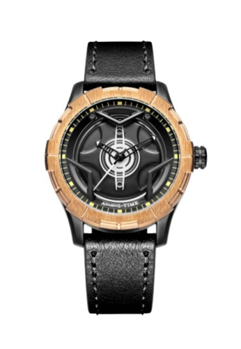 Assassin's Time black Assassin's Time GEOMETRY Black Leather B0D28AC5EE26B8GS_1