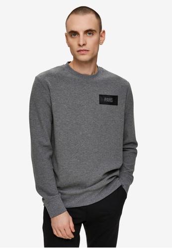 Selected Homme grey Place Crew Neck Sweatshirt 74131AA5742C5FGS_1