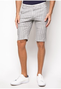 Linen Checkered Shorts