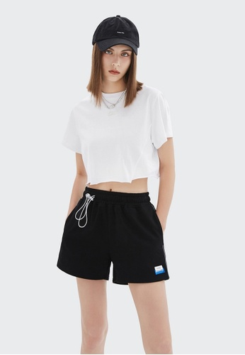 Twenty Eight Shoes Cropped Reflective Printed Short Sleeve T-shirt 6321GS21 55372AA357859AGS_1