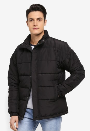 Factorie black Arbour Puffer Jacket F9726AA583AEF0GS_1