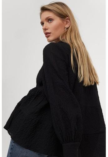 H&M black Crêpe shirt CD31FAAE98B00AGS_1
