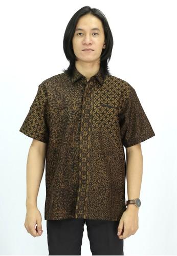 House of Kain brown Kemeja Batik Viscose Sogan 15445AA3F2965BGS_1