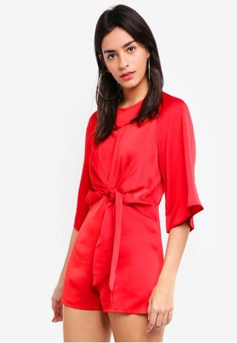819b4d9c07 Buy MISSGUIDED Tie Front Kimono Sleeve Playsuit