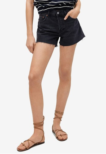 Mango grey High-Waist Denim Shorts 35217AA26DFCCCGS_1