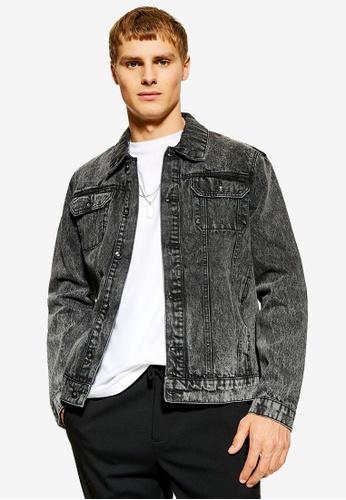 b1fb2e11b56ed Buy Topman Washed Black Denim Jacket Online | ZALORA Malaysia