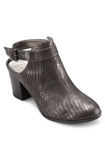 暗紋繞踝露跟高esprit鞋子跟鞋, 女鞋, 鞋