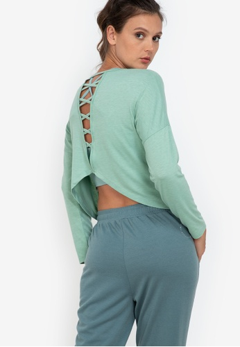 ZALORA ACTIVE green Caged-Back Top 55C04AA6547F8CGS_1