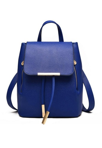 LULUGIFT blue Sweet Season School Girl Travel Blue Backpack LU989AC06PXLMY_1