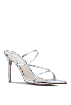 6cac9aea3096 36% OFF Mango Leather Straps Heeled Sandals S  89.90 NOW S  57.90 Available  in several sizes