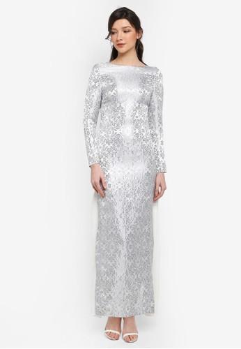 harga Jacquard Dress with Side Pleats Zalora.co.id