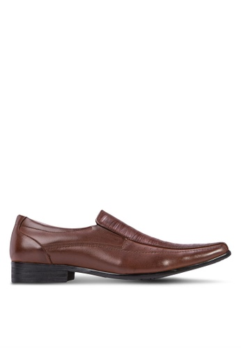 Frank Williams brown Leather Slip On Business Shoes FR033SH02ZLPSG_1