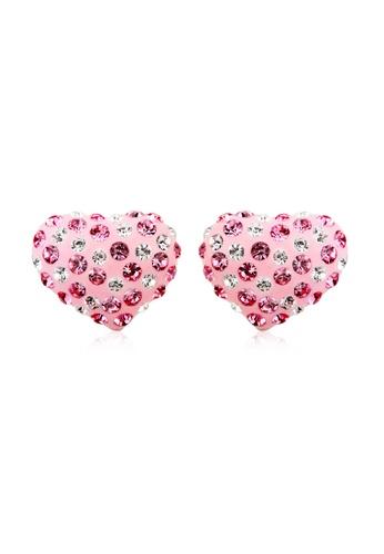 OUXI pink OUXI Romantic Heart Earrings OU821AC25ECWMY_1
