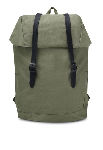 Jack & Jones green Flap Backpack JA987AC0RM9QMY_1