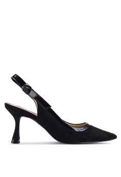 10c6882a08 Nose black Duo Tone Pointy Toe Slingback Heel Pumps F27E5SH0513AD5GS_1