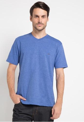 CARVIL blue Tshirt Man Vitman-Blu CA566AA0U59CID_1