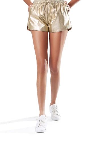 London Rag gold Metallic Shorts 02ADCAA4E46BB4GS_1