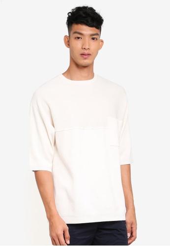 Only & Sons 白色 五分袖針織毛衣 9D849AAE262540GS_1