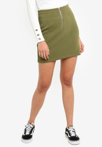 Cotton On green Gwen Zip Mini Skirt A42E1AAE047AA1GS_1