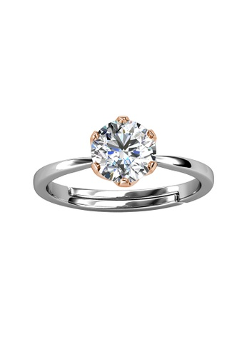 Her Jewellery silver CELÈSTA Moissanite Diamond  - Le Estelle Ring (925 Silver with 18K White Gold Plating) by Her Jewellery 26DD0AC2C2756FGS_1