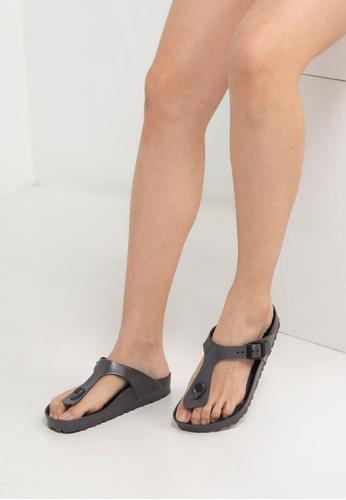 Birkenstock silver Gizeh EVA Sandals BI090SH0RCNUMY_1