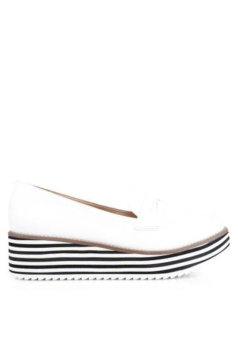 ALDO 白色 Candioni Wedged 樂福鞋 C1E5BSHBF23D61GS_1