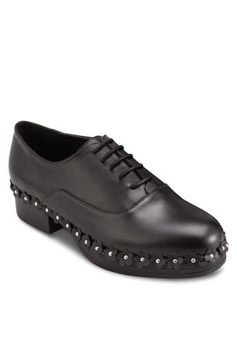 esprit鞋子Freja 花飾布洛克皮鞋, 韓系時尚, 梳妝