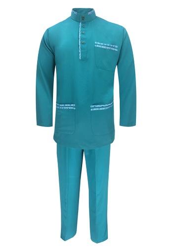 Pacolino green Baju Melayu Cekak Musang with pants For Baby - BM37038 (Green) 5A396KA257364EGS_1