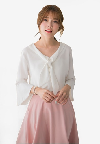 f6b91f169840a Buy Tokichoi Chiffon Blouse With Bell Sleeves Online on ZALORA Singapore