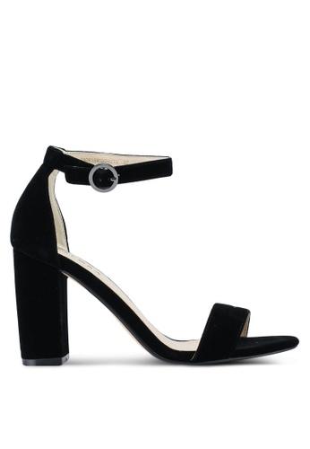 ZALORA 黑色 Velvet Sandal Heels AED43SHF1BF974GS_1