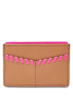 Image of Fossil Card Case Tan Leather Accessories SL7518231