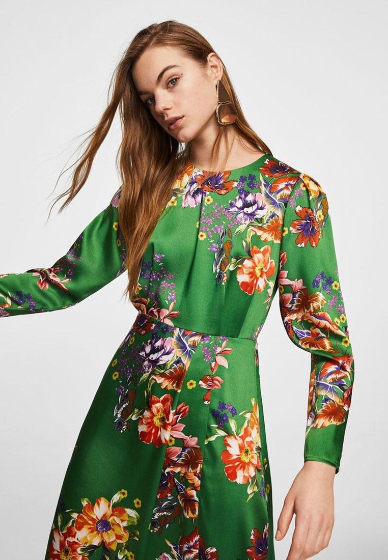 Floral Floral Floral Dress Satin Mango Mango Satin Satin Satin Green Dress Green Green Dress Mango Floral F7qWd8C