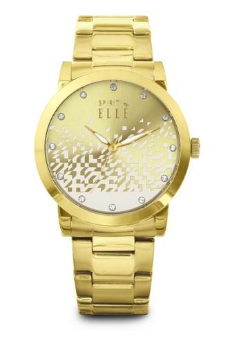 ELLE gold Fashion Ladies Watch SP241AC38LQRMY_1