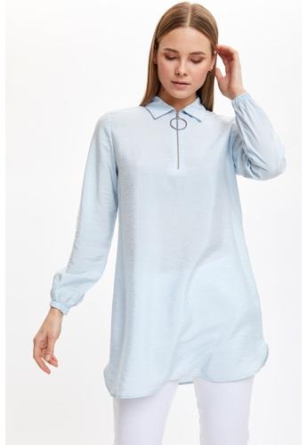 DeFacto blue Woman Long Sleeve Woven Tunic 37BB4AA0C199BAGS_1